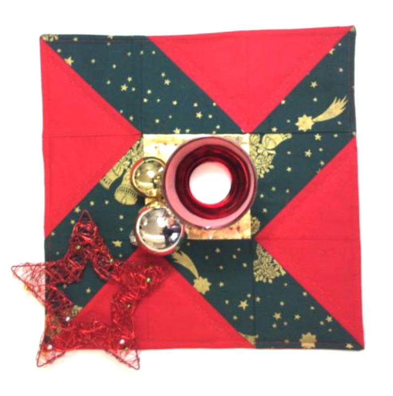 """Nine Patch Quilt Block: Exzentrischer Stern """"Weihnachtsüberraschung"""""""