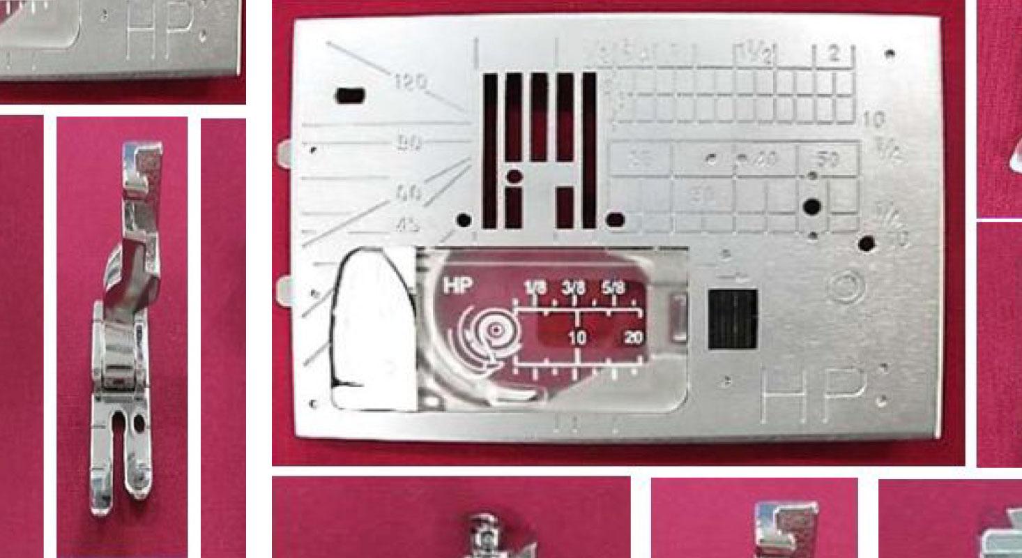 PATCHWORKNÄHEN: Nähen mit dem Profi-Geradstichfuß und -platte HP